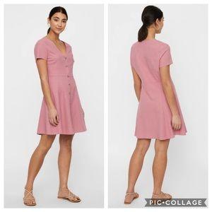NWT Vero Moda Anna Milo Button Front Dress